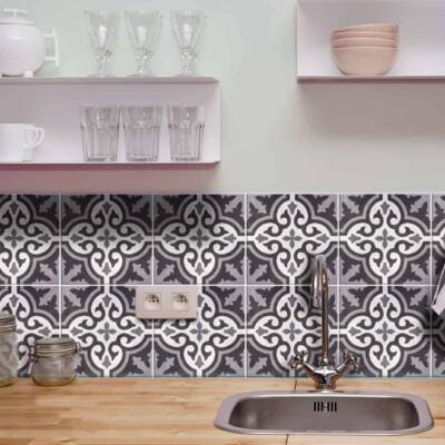 Fliesenaufkleber für Bad Deko u. Küche - Marokkanisch Azulejo