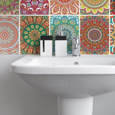 Fliesenaufkleber für Bad Deko u. Küche - Mandala