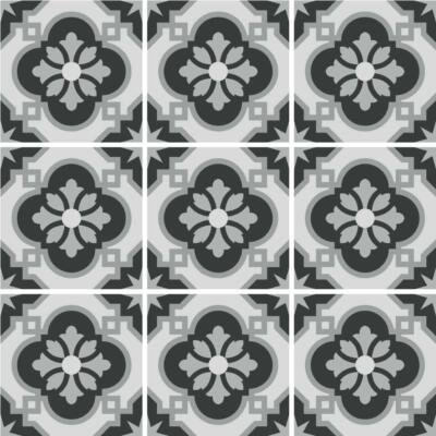 Fliesenaufkleber für Bad Deko u. Küche - Azulejo Grau