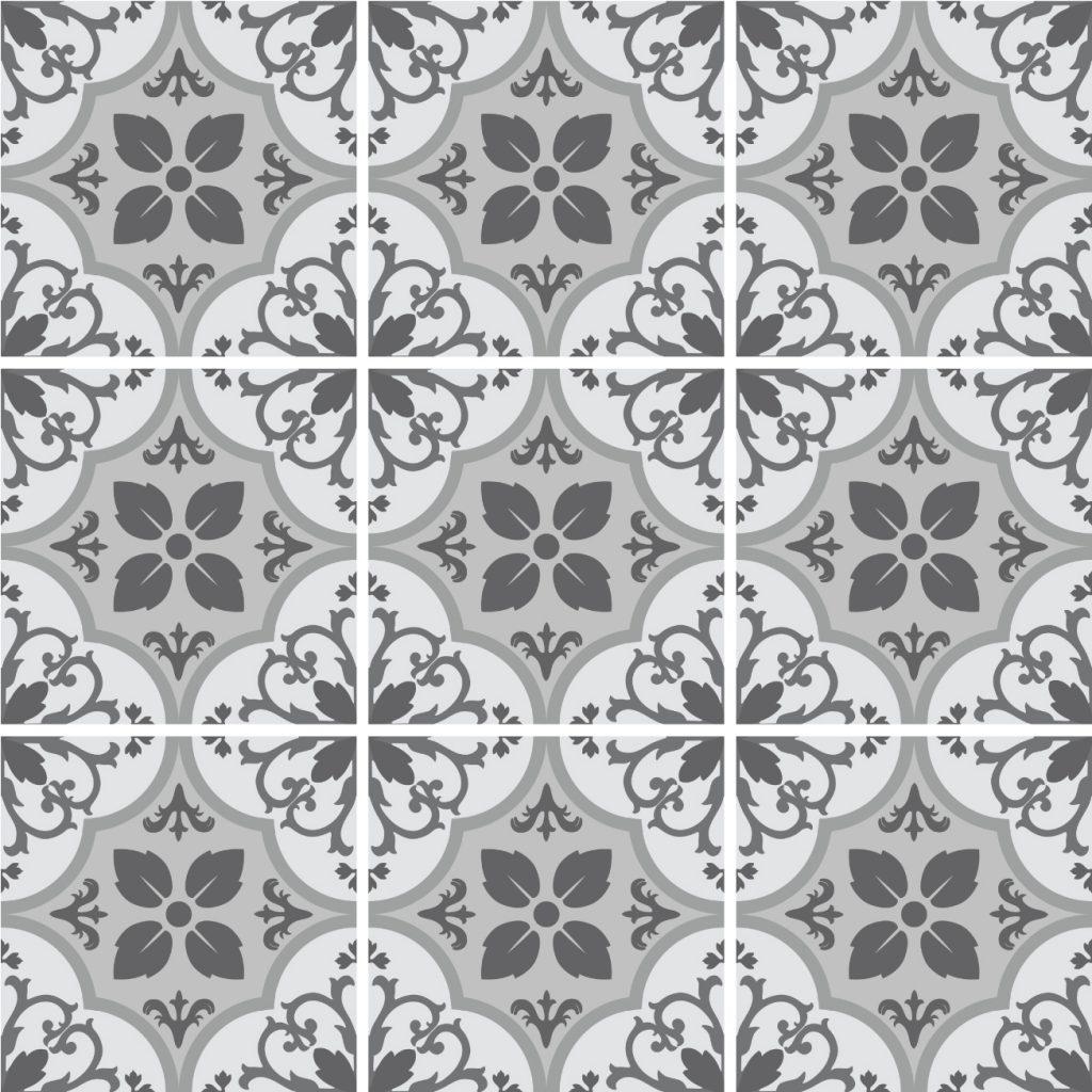 Fliesenaufkleber für Bad Deko u. Küche - Marokkanisch Floral