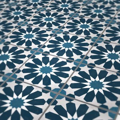 Bodenfliesenaufkleber mit klassischen marokkanischen Muster