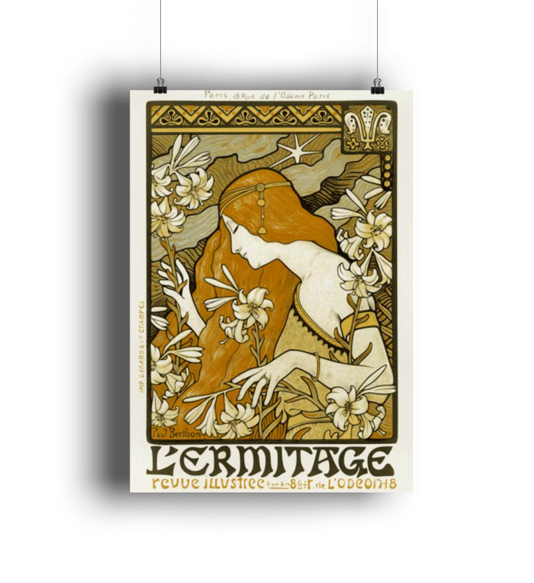 L-ermitage - Paul Berthon - DIN A1 Poster (hochformat)-3