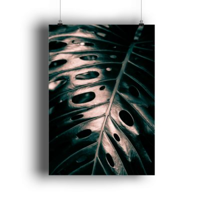 Monstera Blatt Makro - DIN A3 Poster (hochformat)-3